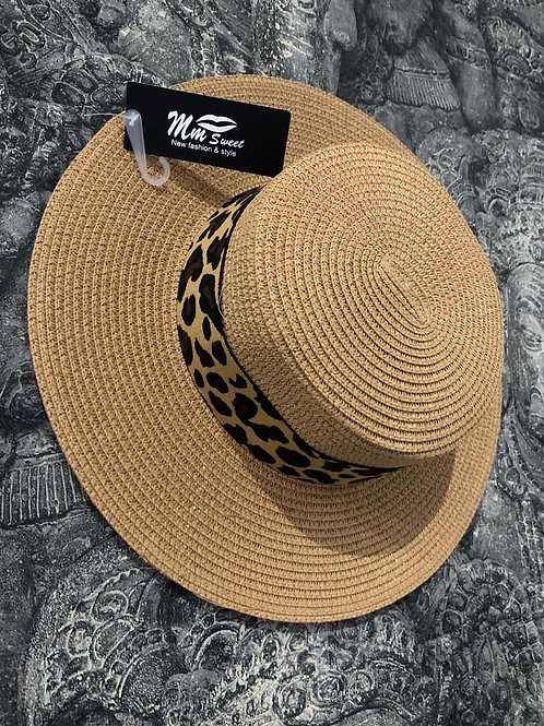 LEOPARD boater hat