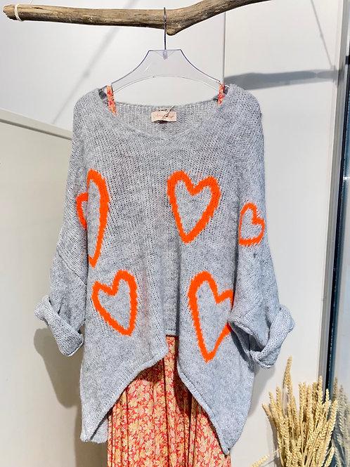 I HEART YOU knit
