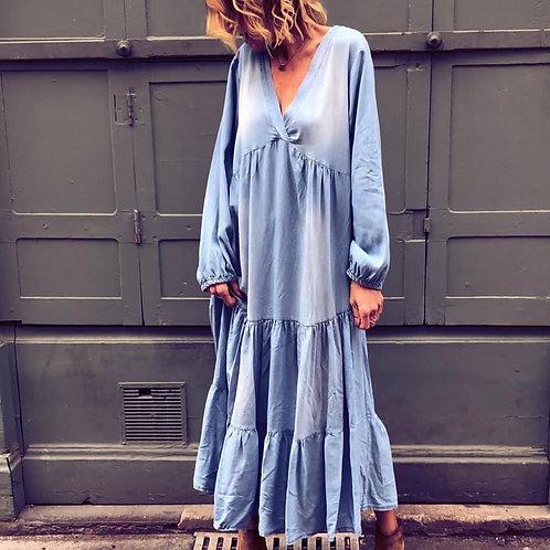 MAXI BLU dress