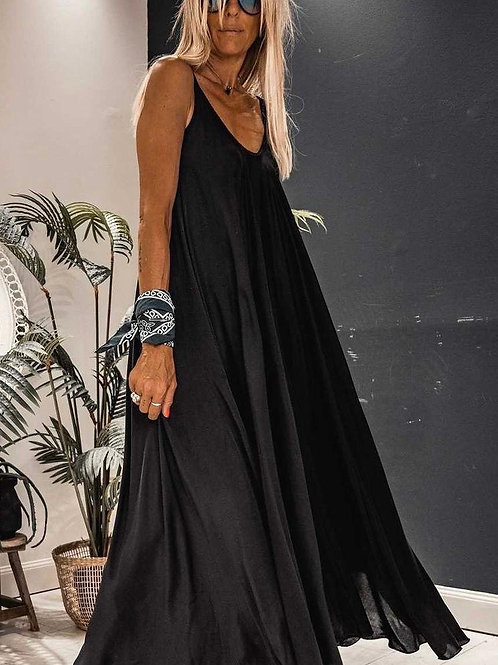 SATEEN maxi dress