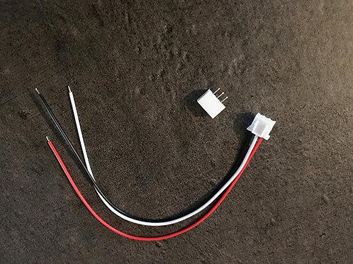 Connecteur 3 broches (fils sertis sur partie femelle)