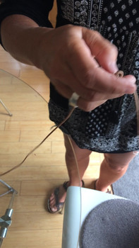How to add a knot to shorten round leather anklet