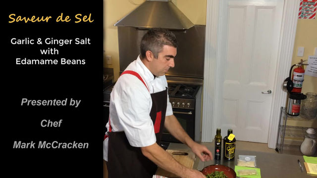 CHEF MARK AT WORK WITH SALT.