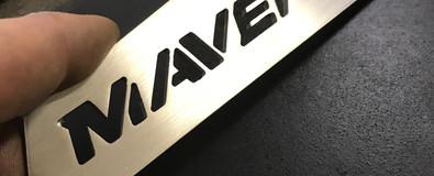 Maverick Logo cut on CNC