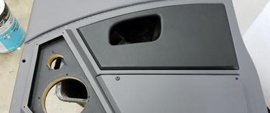 Custom Door Panel After Leather Install.