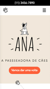 Animais website templates – Passeador de Cães