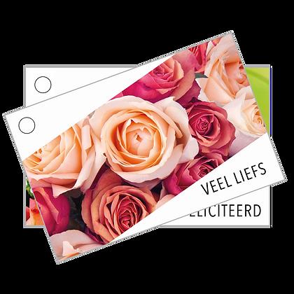 Basisprijs - Eigen ontwerp Bloemenkaartjes