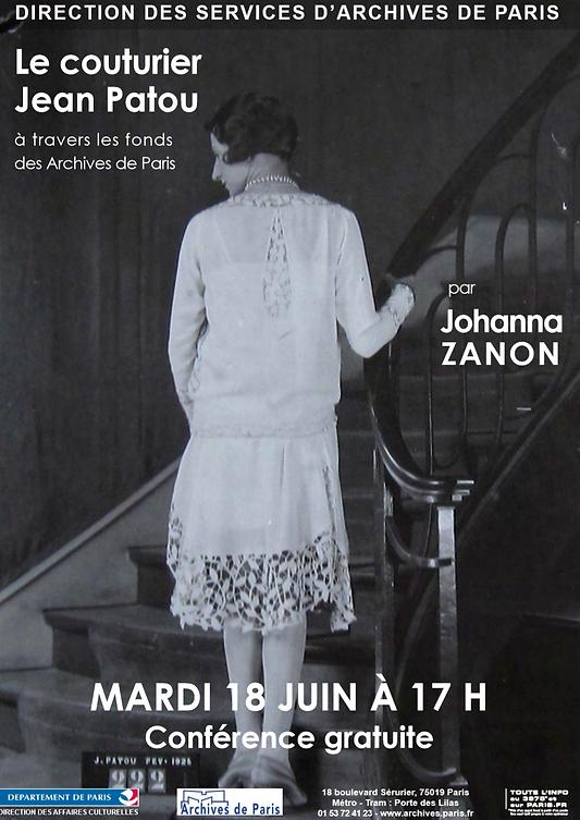 Le couturier Jean Patou 2013