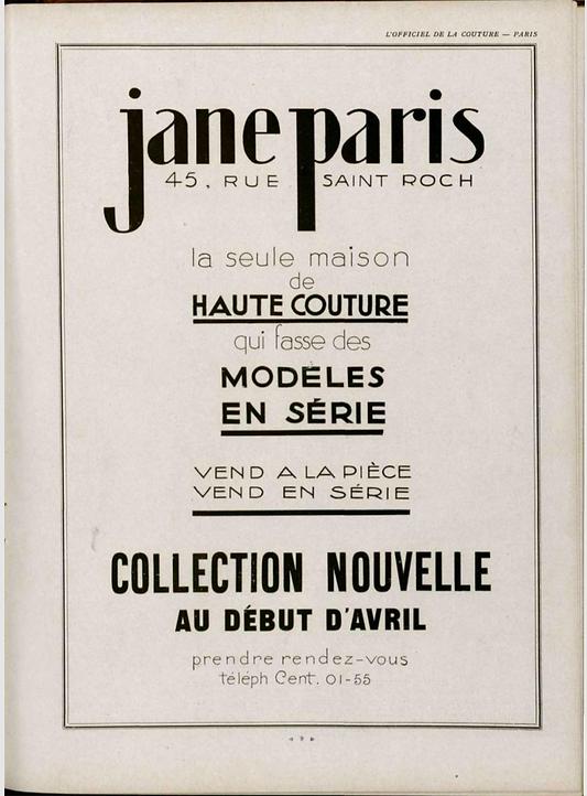 Jane Paris 1929