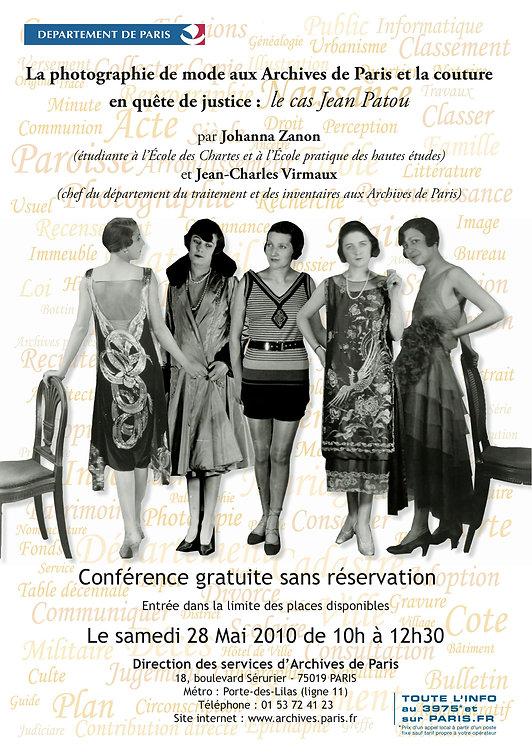La photographie de mode aux Archives de Paris