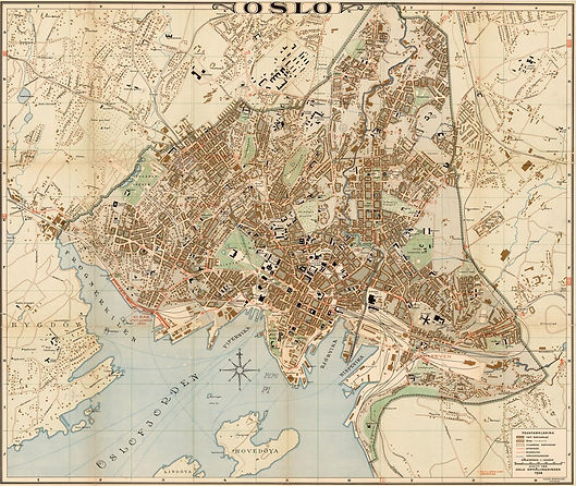 Map of Oslo 1938