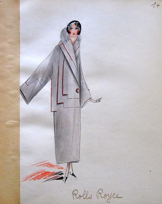 Jean Patou Rolls Royce coat 1922
