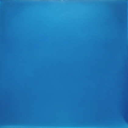 Blue Meditation (I Look for Light), urethane, pigment and varnish on acrylic, 18 x 18 inches