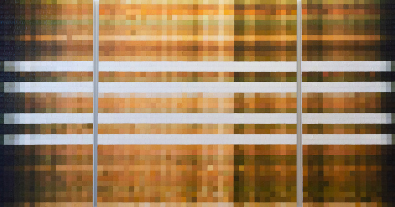 Spring Equinox, oil on 3 wood panels, 40 x 76 inches