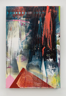 Protect the Sacred, aerosol, acrylic, graphite, charcoal, oil paints on canvas, 48 x 36 inches