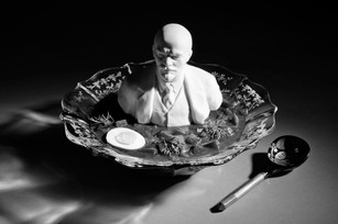 STILL LIFE WITH LENIN IN BORSCHT, digital print on Hahnemuhle photo pearl, 10 x 15 inches