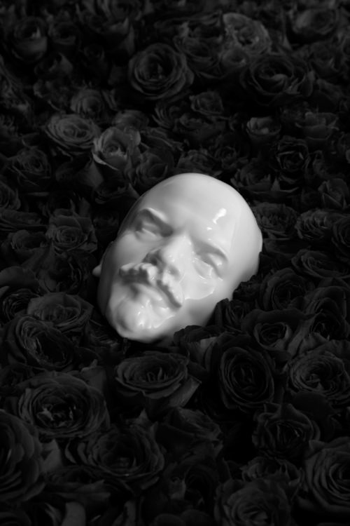 STILL LIFE WITH LENIN AND DEAD ROSES, digital print on Hahnemuhle photo pearl, 10 x 15 inches