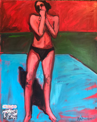 Cinco, oil on canvas, 66 x 54 inches