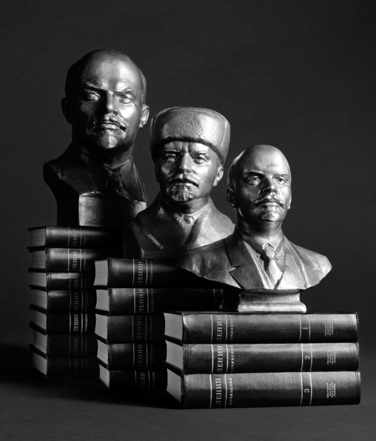 STILL LIFE WITH LENIN AND COLLECTED WORK AND COLLECTED WORKS OF LENIN, Vol 1-15, digital print on Hahnemuhle photo pearl, 10 x 11.75 inches
