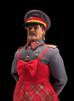 STALIN IS THE FAIREST DICTATOR OF THEM ALL! (in the Spring!), color digital print, 64 x 44 inches