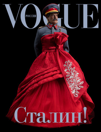 STALIN IS IN VOGUE!, color digital print, 20 x 25 inches