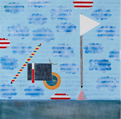 Letting, oil on canvas, 56 x 57 inches