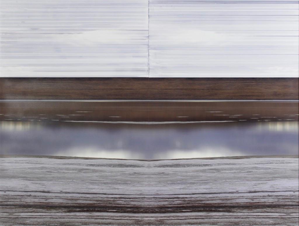 nowhere/now here (salt and sky), photographs on aluminum, acrylic, 30 x 40 inches
