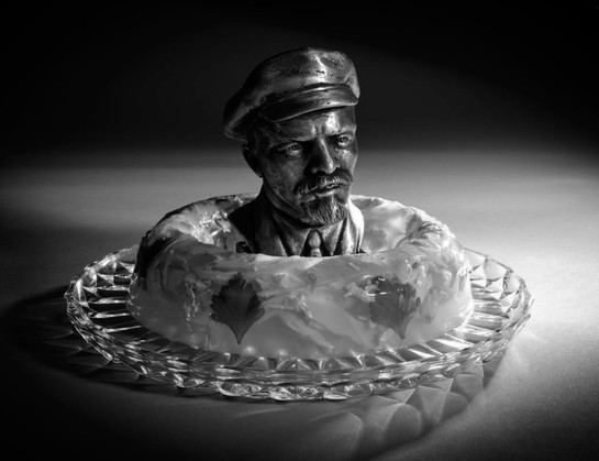 STILL LIFE WITH LENIN AND KHOLODET, digital print on Hahnemuhle photo pearl, 10 x 13 inches