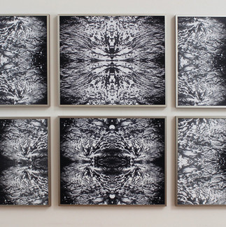 no where/now here (three sisters grid), photographic images on aluminum, 20 x 24 inches each