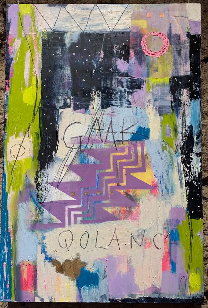 Star Storm, aerosol, acrylic, graphite, charcaol, oil on birch panel, 30 x inches