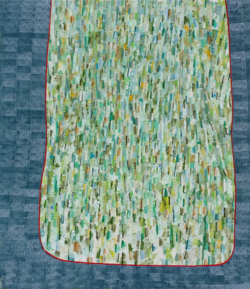 Edge, oil on canvas, 56 x 48.5 inches