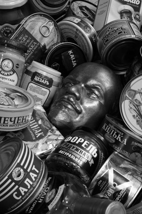 STILL LIFE WITH LENIN AND RUSSIAN GROCERIES, digital print on Hahnemuhle photo pearl, 15 x 10 inches