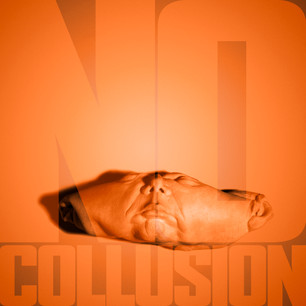 THE SURREAL ORANGE SPEAKS (COLLUSION), 10 x 10 inches