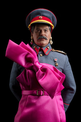 STALIN IS THE FAIREST DICTATOR OF THEM ALL (IN PINK)!, color digital print, 64 x 44 inches