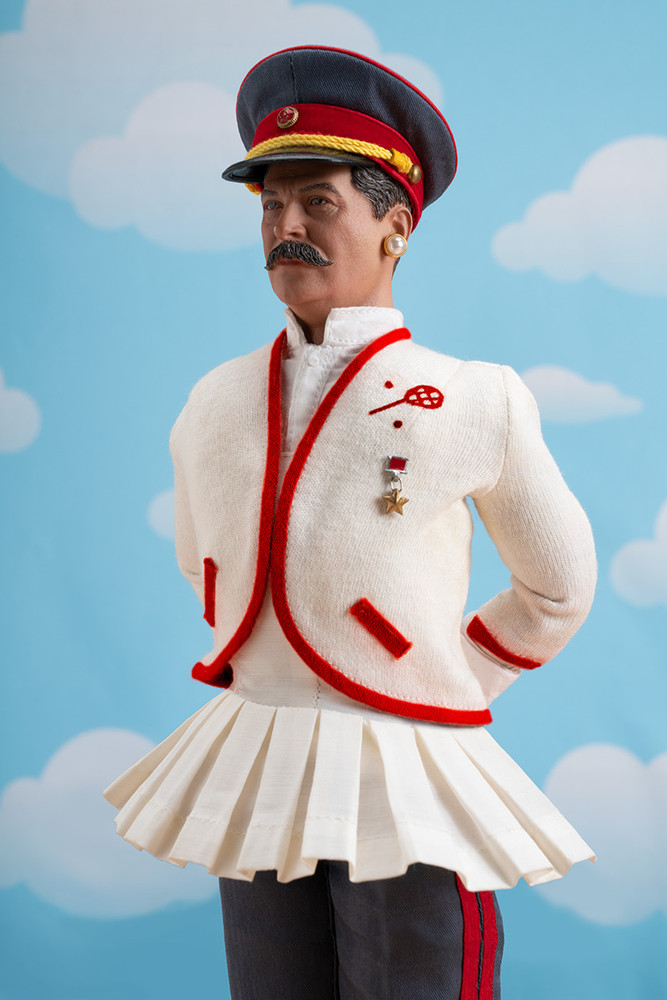 STALIN IS THE FAIREST DICTATOR OF THEM ALL (AT WIMBELDON!), color digital print, 64 x 44 inches