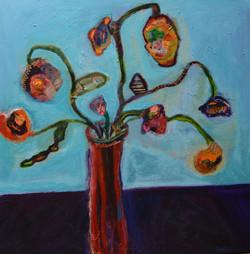 Still Life in Red Vase