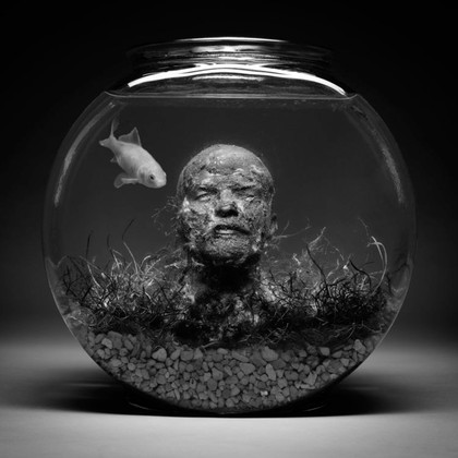 STILL LIFE WITH LENIN AND ONE GOLDFISH, digital print on Hahnemuhle photo pearl, 10 x 10 inches