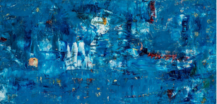 Voyage, oil on wood panel, 24 x 48 inches