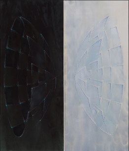 Wintery Fever,  oil on canvas, 84 x 74 inches