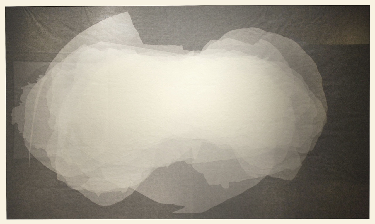 Cloud of Perception, a Collection of Peripheries, glassine on paper, 41.5 x 69.25 inches