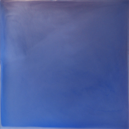 Blue Violet Meditation, urethane, pigment, and varnish on acrylic, 24 x 24 inches