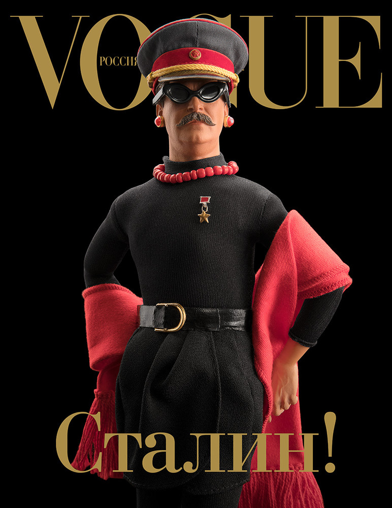 STALIN IS IN VOGUE! (AGAIN!), color digital print, 20 x 25 inches
