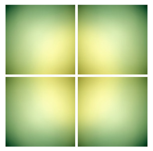 Lime [grid], 4 light jet prints on aluminum, 50 x 50 inches