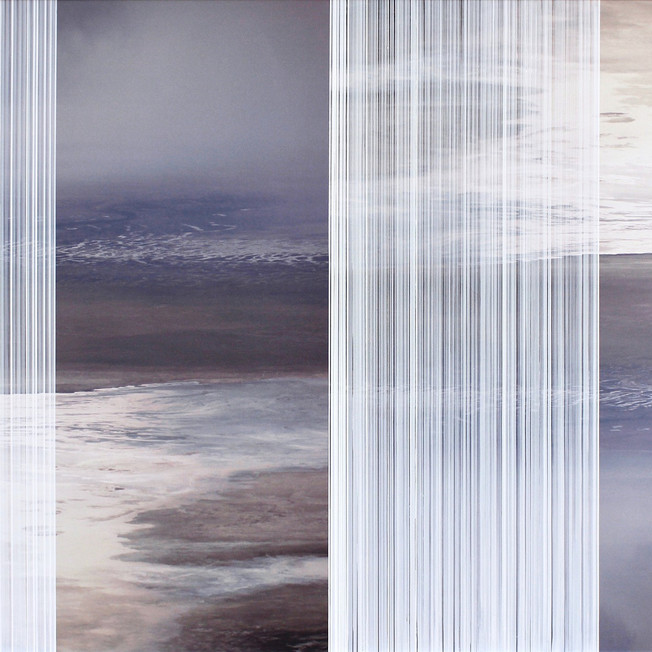 nowhere/now here (dust), photographs on aluminum, 30 x 40 inches