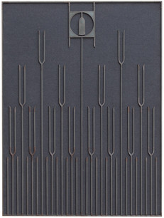 Unpainted Painting #2, copper, oak, and wood, 56.75 x 43 inches
