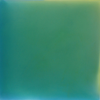 Green Meditation (I Look for Light), urethane, pigment and varnish on acrylic, 15 x 15 inches
