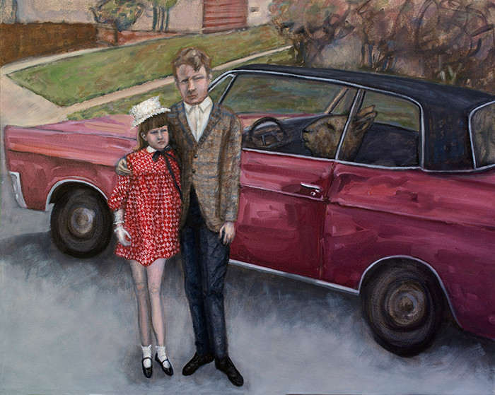 New Car, oil on canvas, 24 x 30 inches