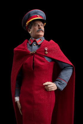 STALIN IS THE FAIREST DICTATOR OF THEM ALL (AT NYFW!), color digital print, 64 x 44 inches