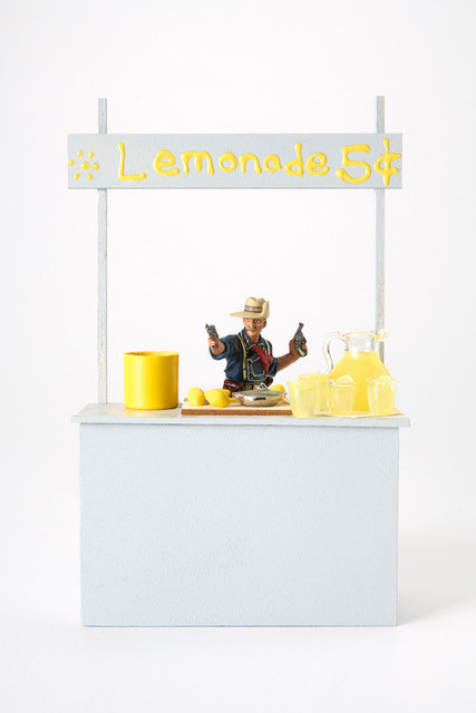 Custer's Last Lemonade Stand, digital print on Hahnemuhle photo pearl, 30 x 20 inches