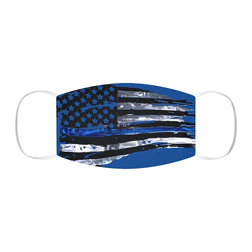 Tattered Thin Blue Line Face Mask